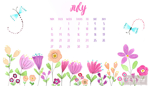 July Desktop by Rebecca Stoner