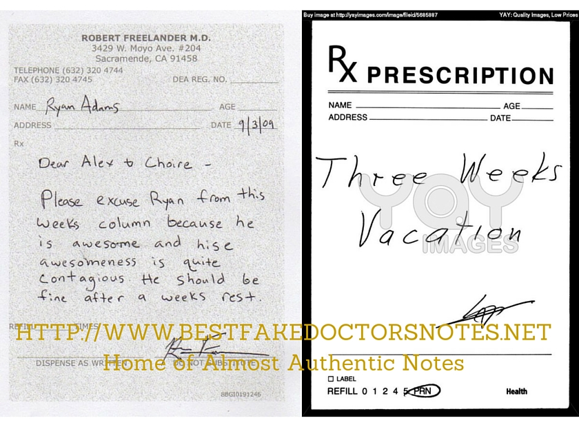A Doctors Excuse Note For All Your Needs - doctors note