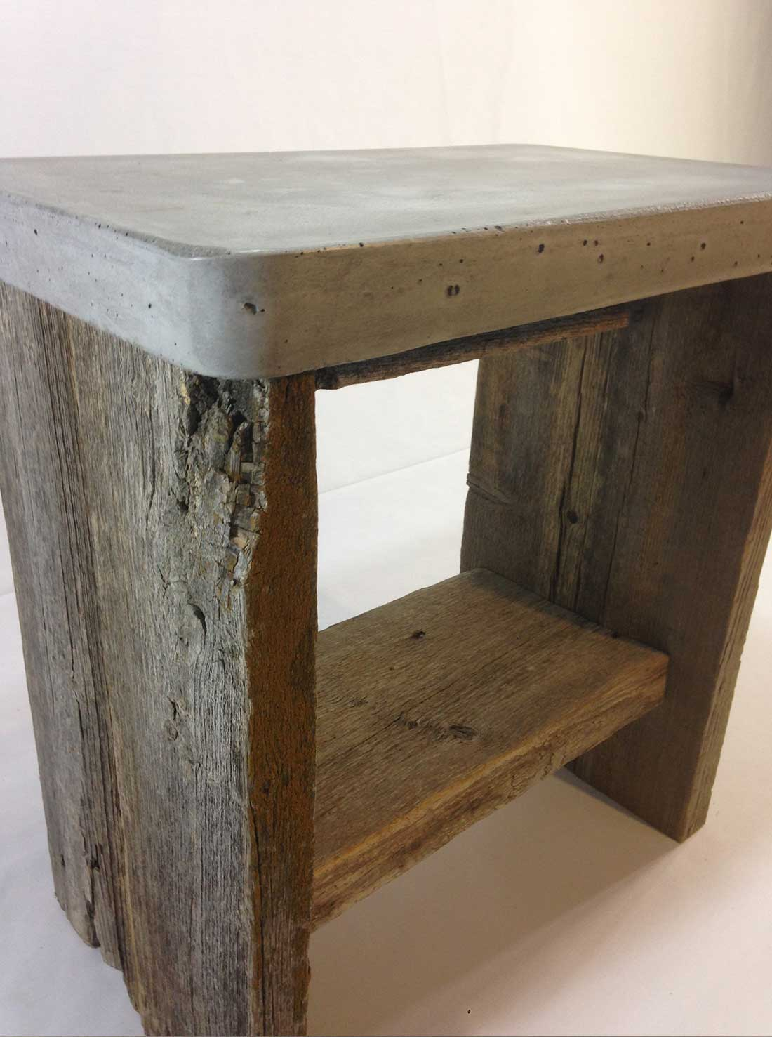Concrete Table Top Concrete Top Barn Wood Side Table Rebornbarns