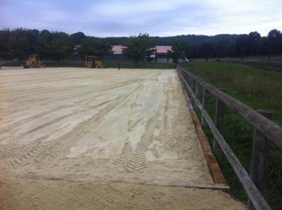 Carrière sable pour chevaux