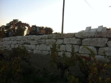 Mur d'enrochement