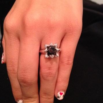 Black Diamond Lotus Ring