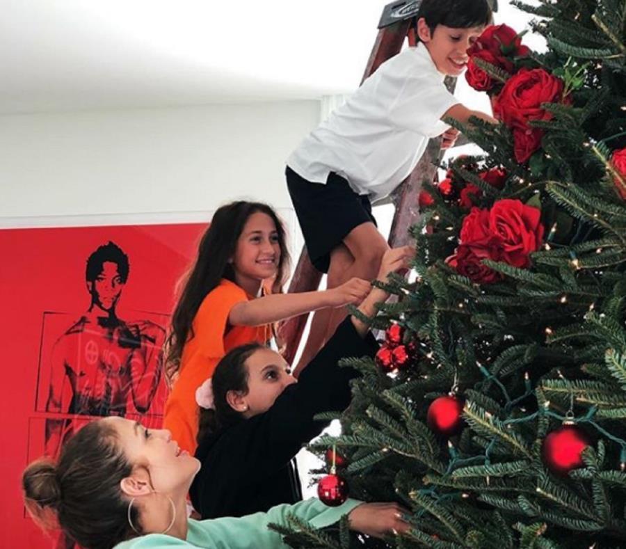 Llegó la Navidad al hogar de Jennifer López y Alex Rodríguez El