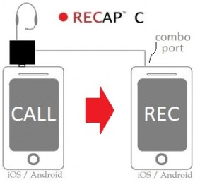 recap audio adapter record iphone calls
