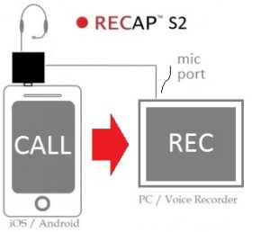 recap audio adapter record call pc