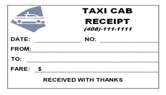 Yellow Cab Receipt Template | Cover Letter Samples, Resumes ...