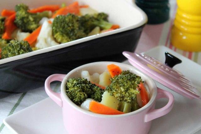 Verduras al vapor orielo 39 s kitchen recetas sin lactosa - Como cocinar verduras al vapor ...