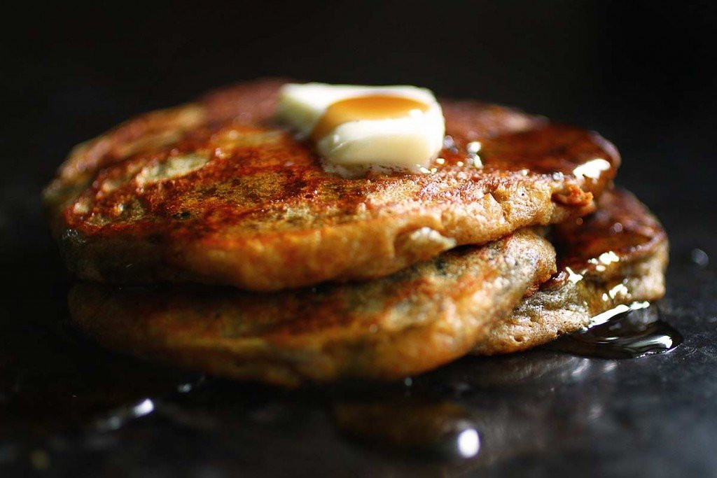 Blueberry Cornmeal Pancakes — Recipe Fiction