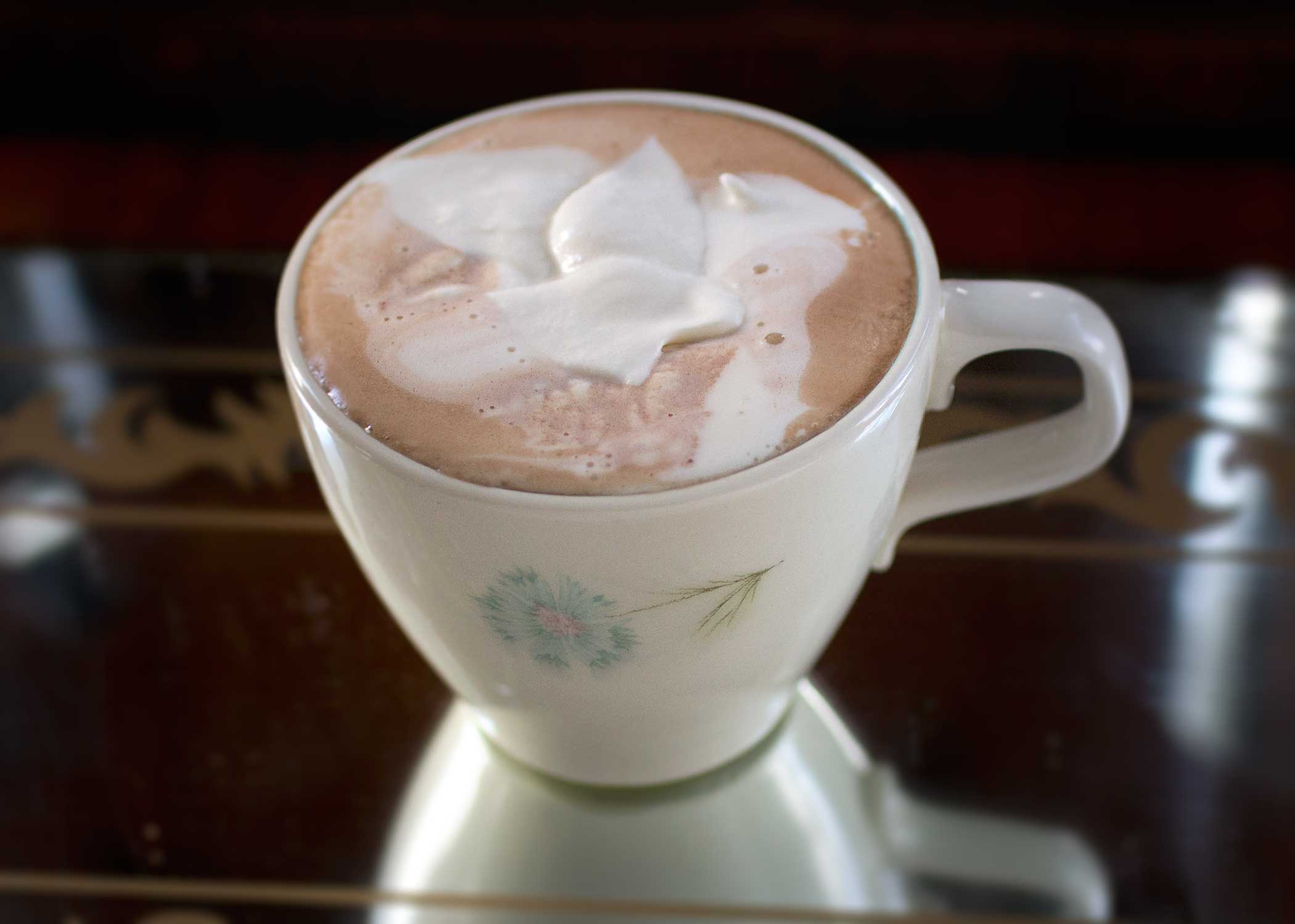 in a medium sauce pan combine milk, cocoa, and sugar. Whisk until ...