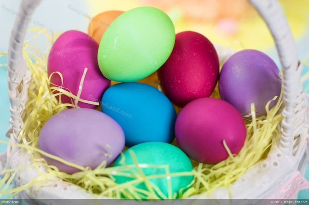 Food Coloring Chart for Easter Recipe