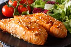 Calmly Honey Sesame Salmon Steaks 1 191703 Facebook Salmon Steak Recipe Jamie Oliver Salmon Steak Recipe Easy