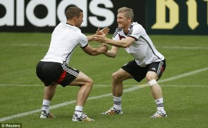 Schweinsteiger (right), in fine form.