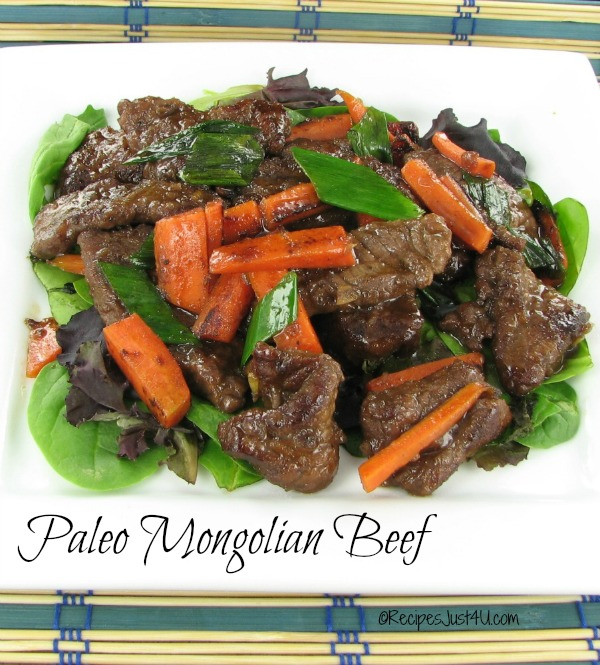 Paleo Mongolian Beef and Spring Onions