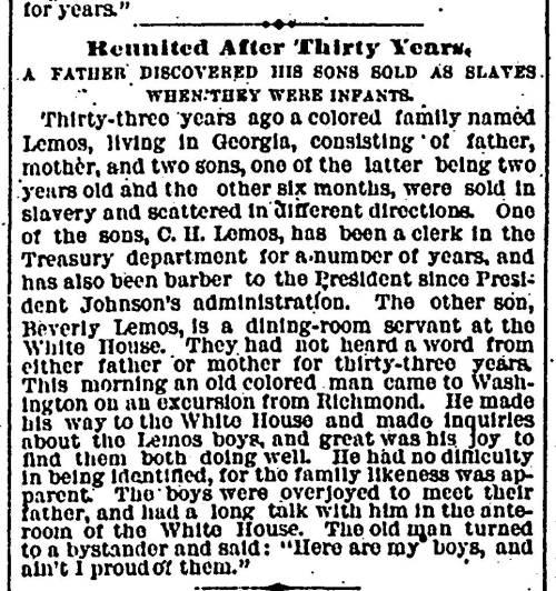 1882 Washington Evening Star