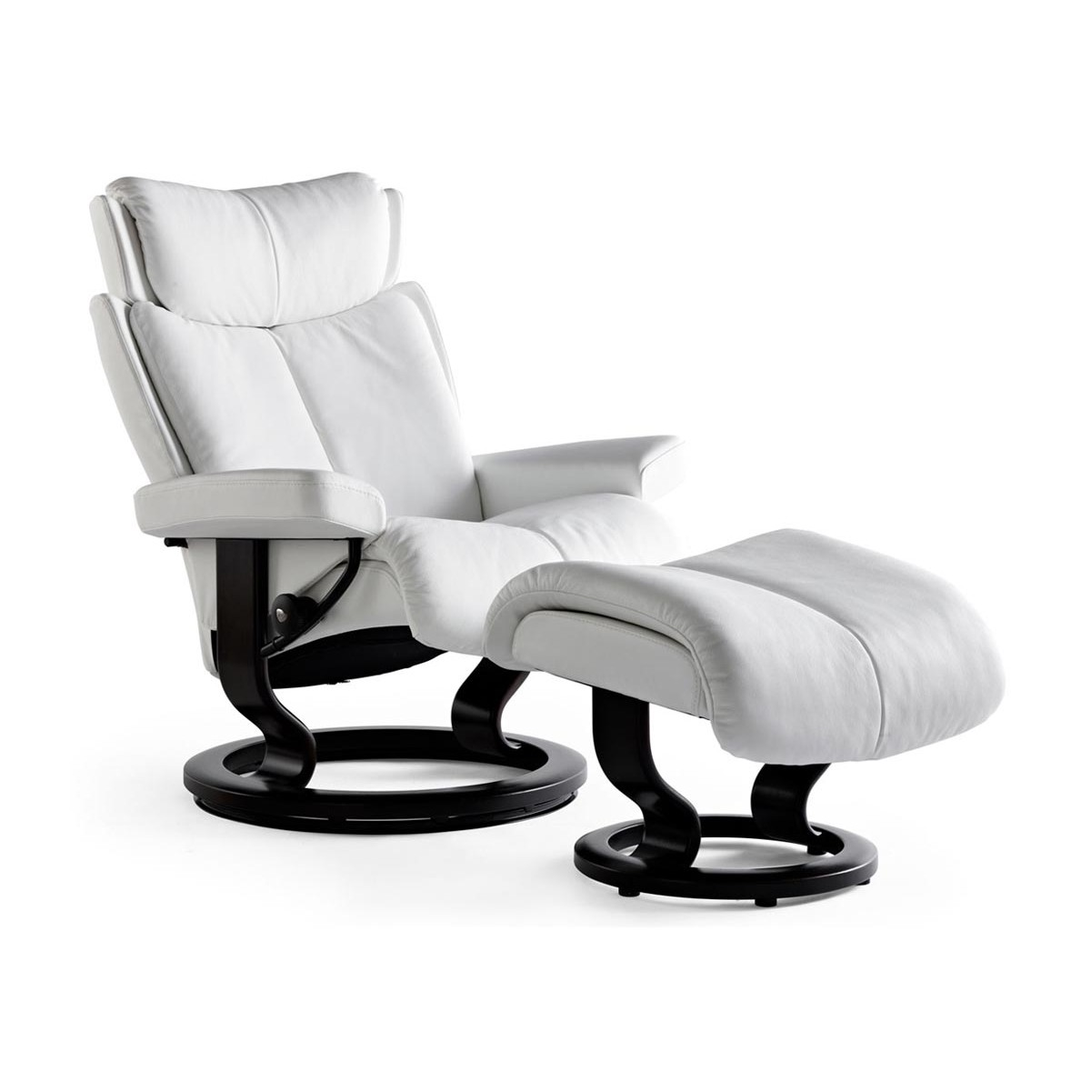 Stressless Recliners With Ottoman Stressless Magic Classic Recliner And Ottoman From 3 295 00