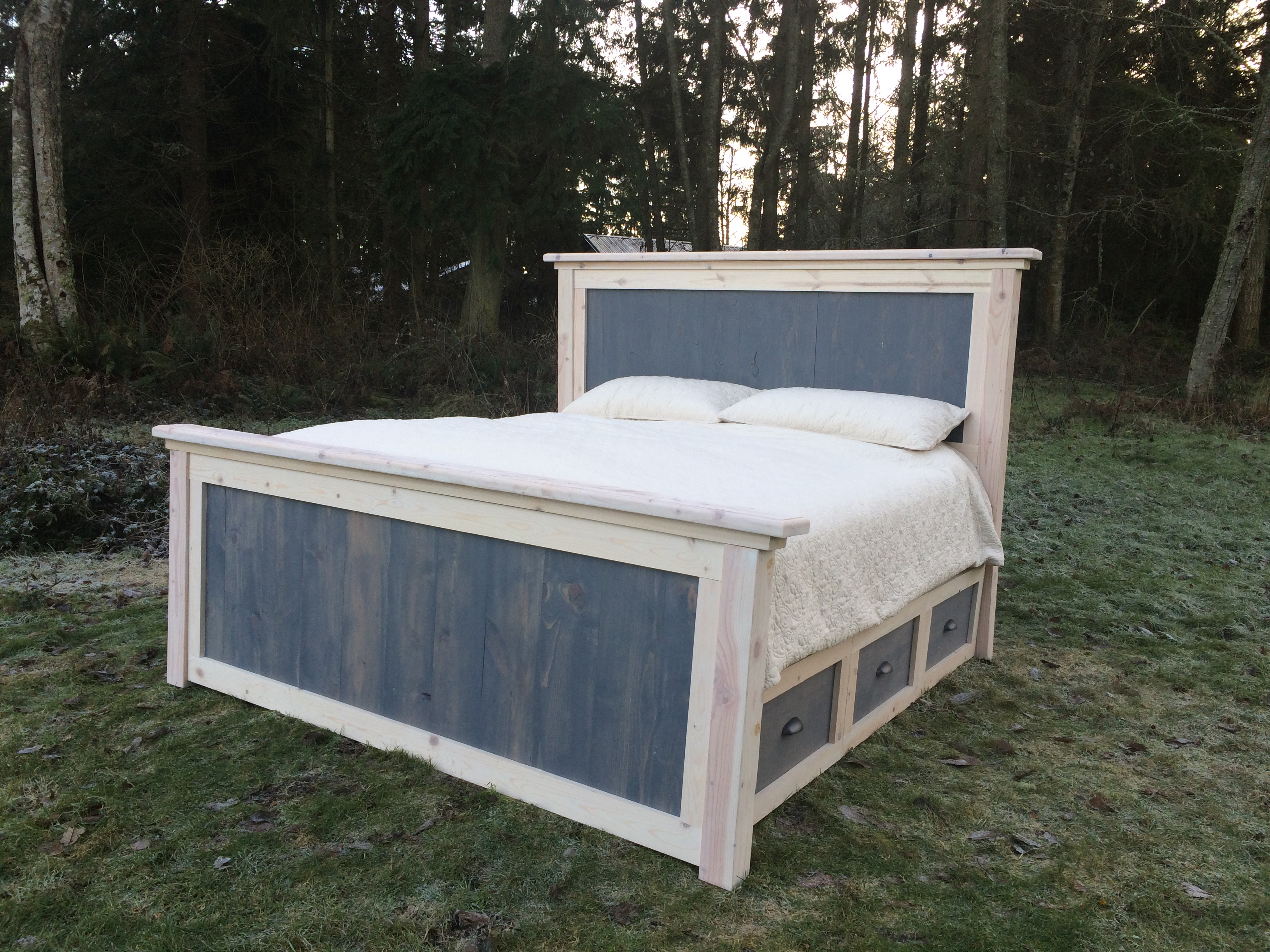Farmhouse Futon Diy King Farmhouse Bed Plans Reconstruction Life