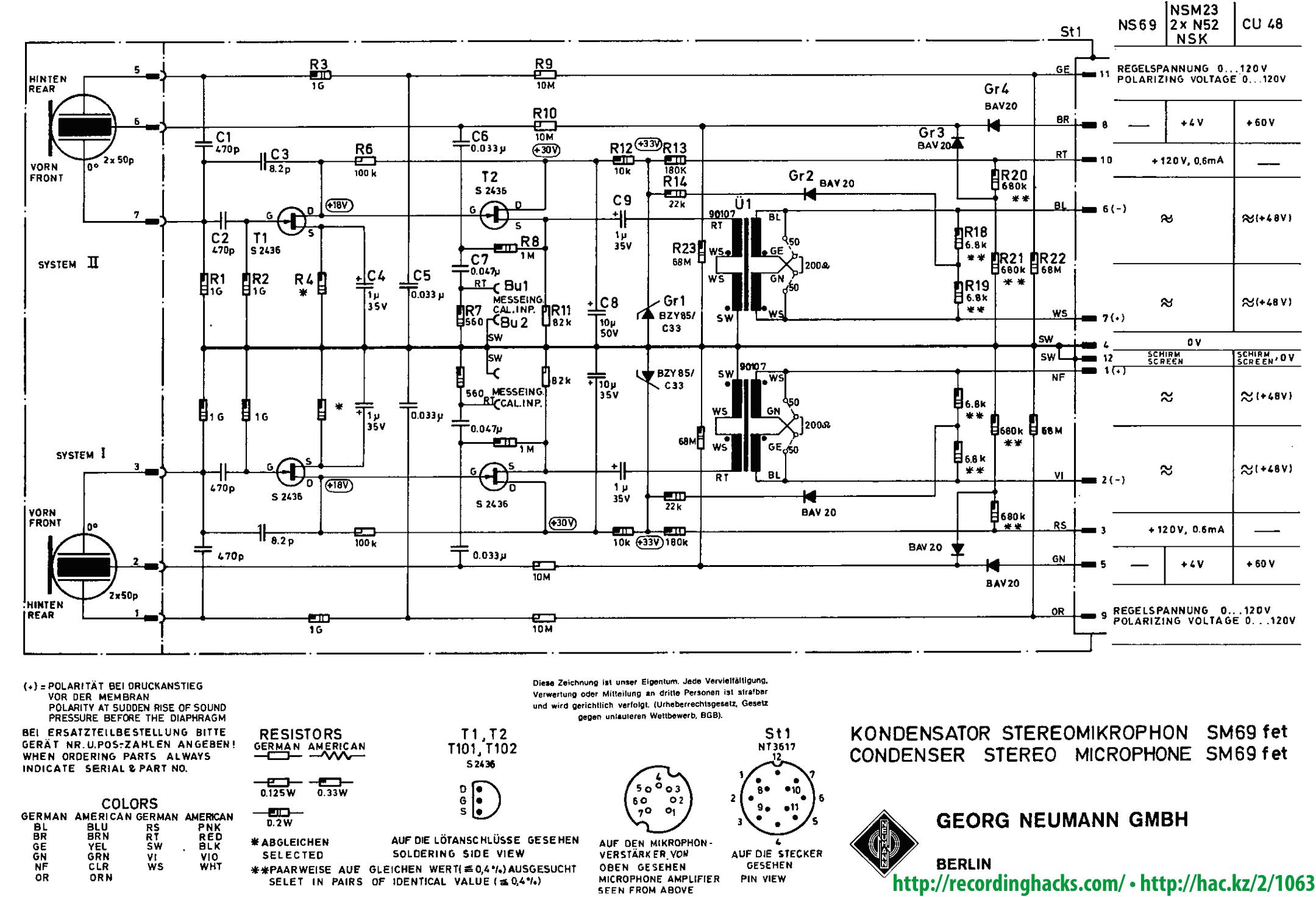 Wiring Diagram For Condenser Microphone Get Free Auto Tube Mic Neumann U47 Schematic