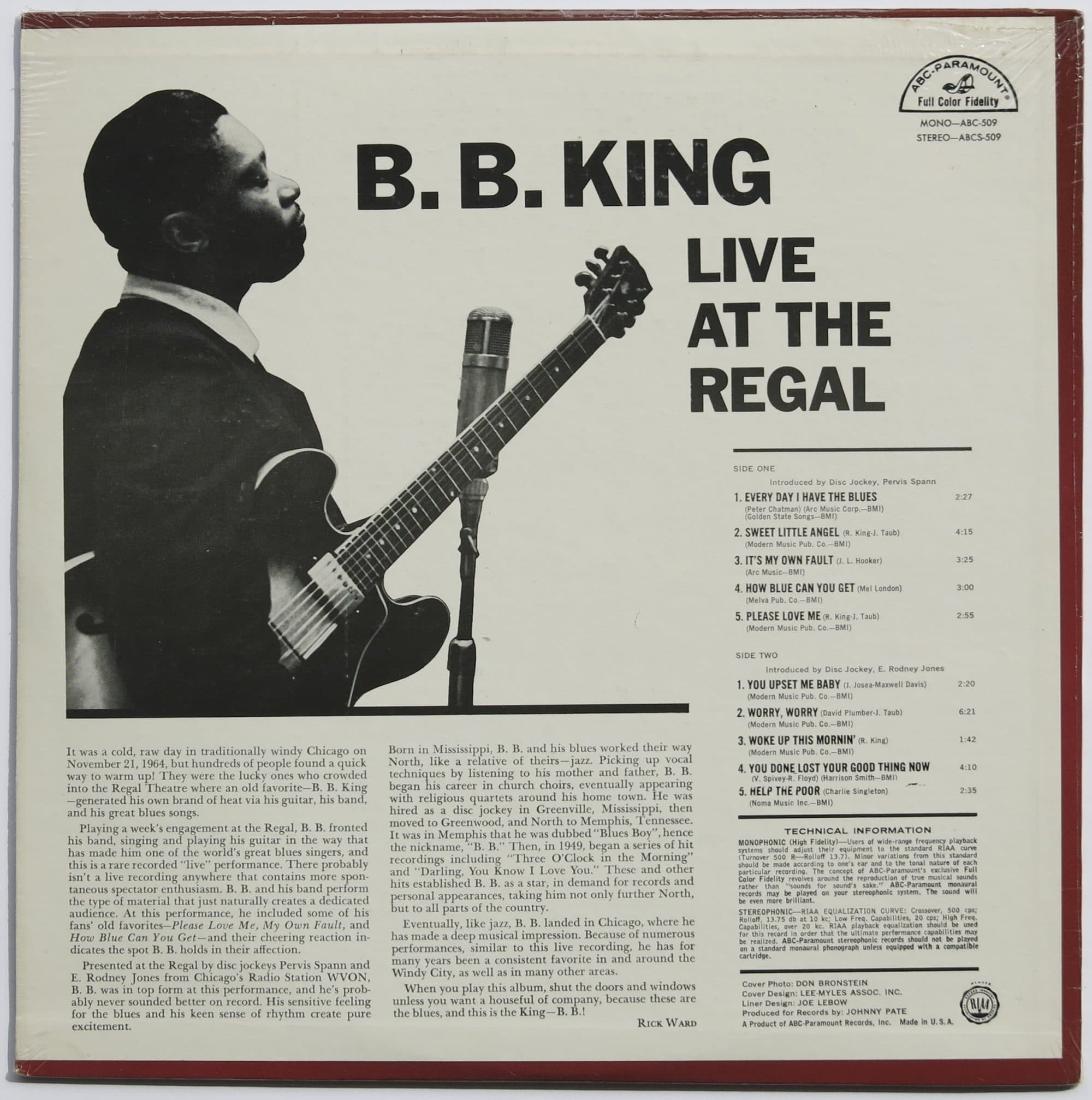 Lp Regal B B King Sealed 1st Pressing Live At The Regal Lp