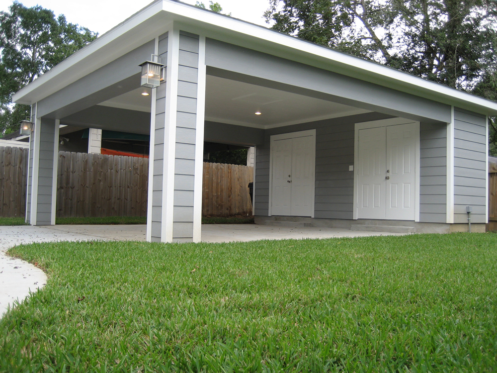 covered garage