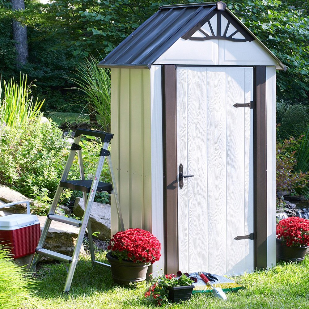 Steel Storage Sheds Arrow Storage Dsm42 4 X 2 Designer Series Metro Steel Storage Shed