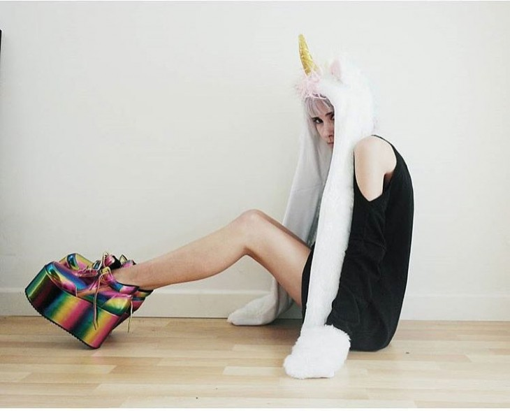 Luces Led Cocina Pantuflas De Peluche De Unicornio Con Luces Led De Colores