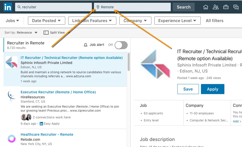 LinkedIn now supports a \u0027Remote\u0027 job location for job posters
