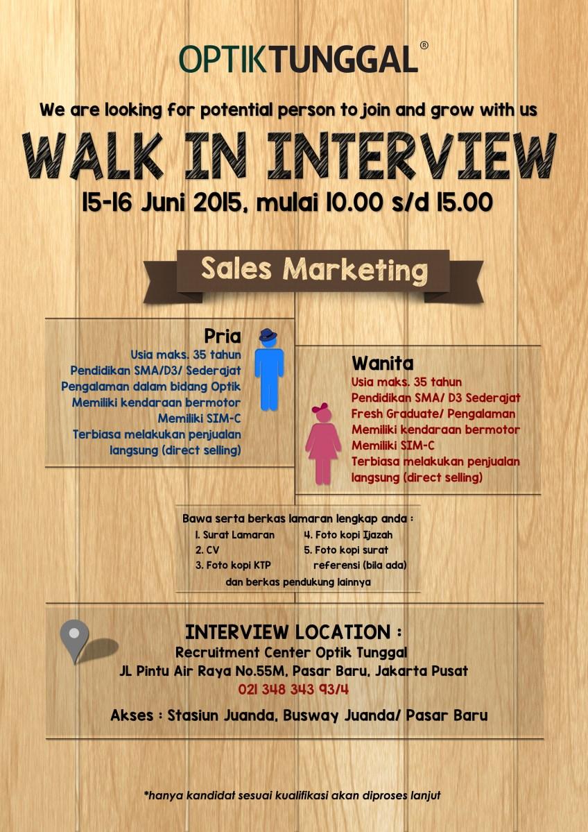 Walk Interview 2013 Jakarta Httpfacebookphotophp Walk In Interview Pt Optik Tunggal Sempurna 15 16 Juni 2015