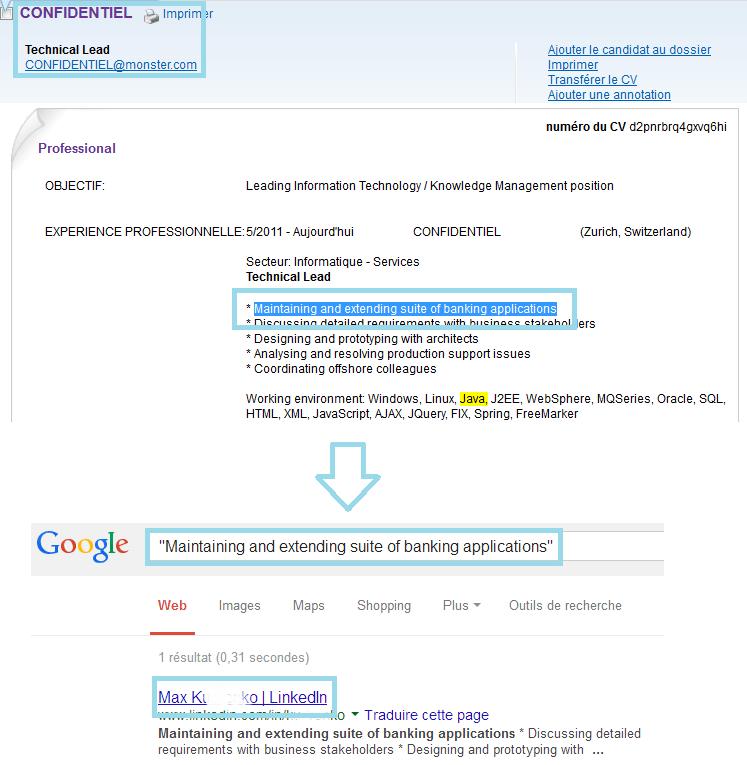 format cv linkedin erreur