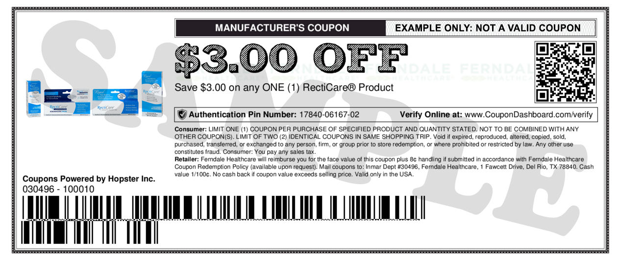 Recticare Coupons