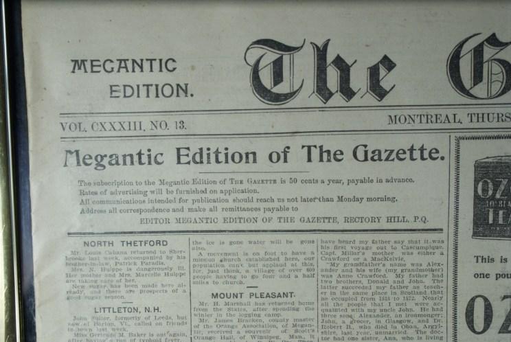 Le journal est édité à Rectory Hill