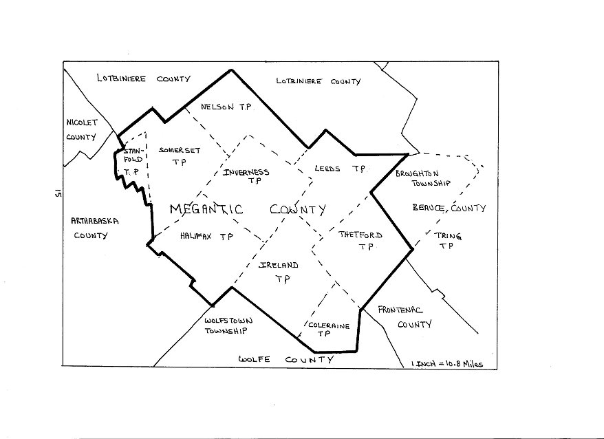 megantic_county's_townships