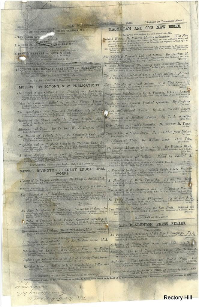 The Guardian, 19 novembre 1873
