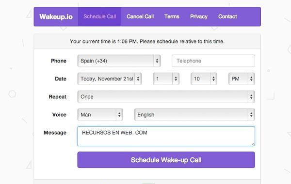 Wakeupio recibe una llamada perdida en tu móvil para despertarte