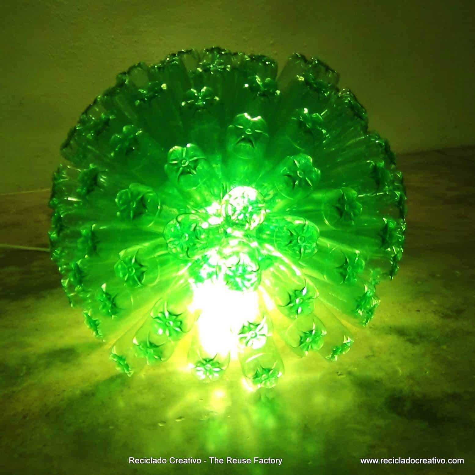 Recycled Plastic Bottle Lamp 125 Recycled Plastic Bottles Lamp Recyclart