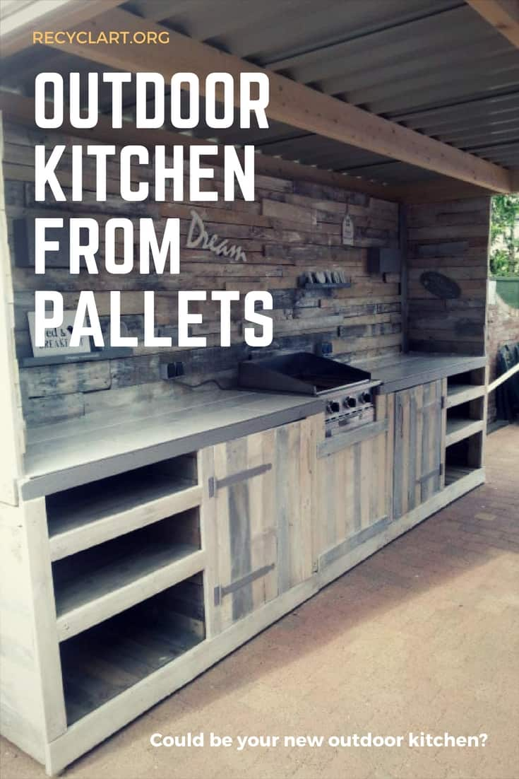 Outdoor Küche 2014 Outdoor Kitchen Made From Repurposed Pallets Recyclart