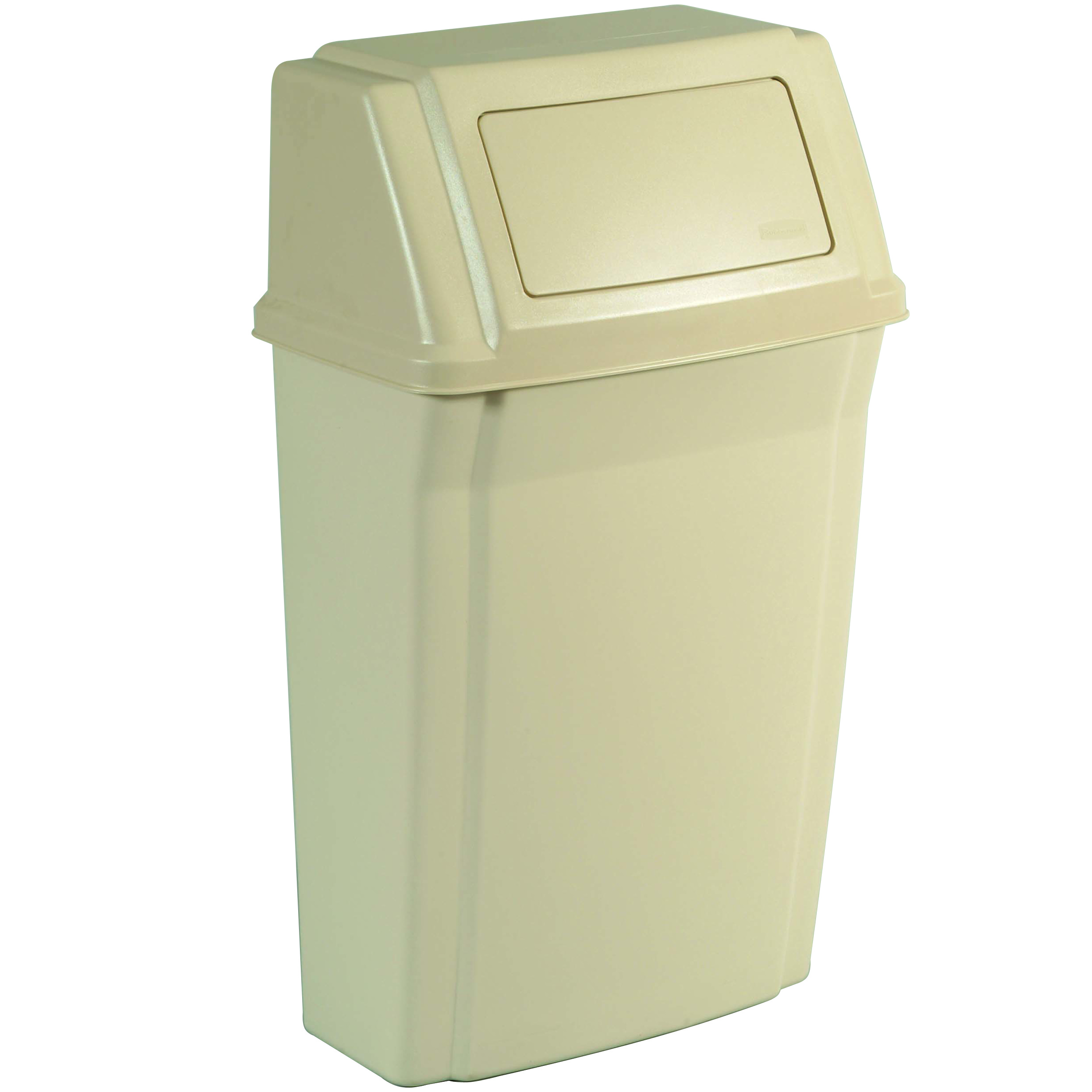 Attractive Trash Cans 15 Gallon Rubbermaid Slim Jim Wall Mounted Trash