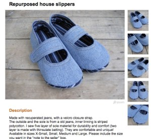 jeans slippers