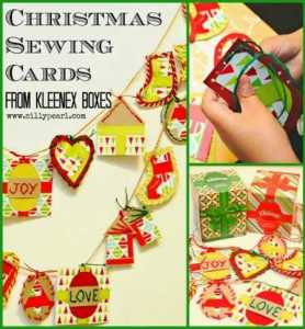 Kids Christmas Craft - Sewing Cards from Kleenex Boxes - by The Silly Pearl_thumb[3]