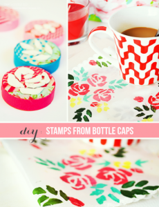 diy stamps from bottle caps