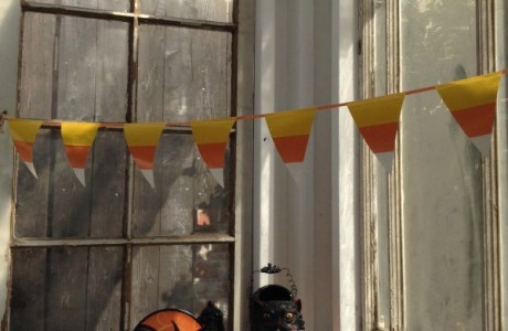 Scented Duck tape candy corn banner