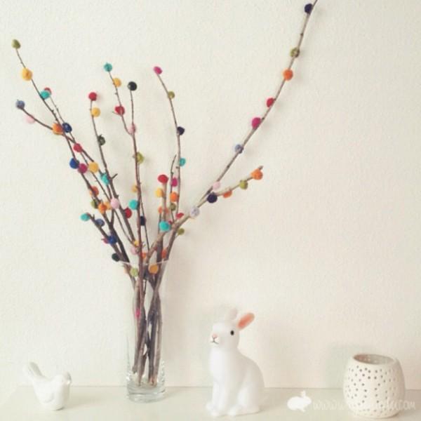 pompom branch decoration
