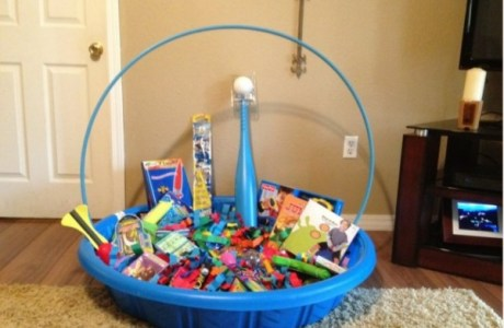 giant easter basket kiddie pool