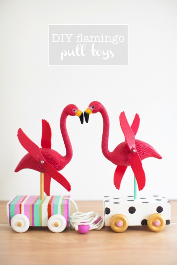 DIY-cute-flamingo-pull-toys-for-the-little-ones