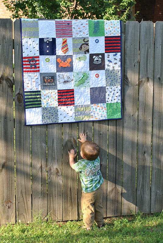 How to make a baby onesie quilt