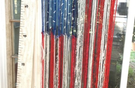 How to make a scrap yarn American Flag decoration