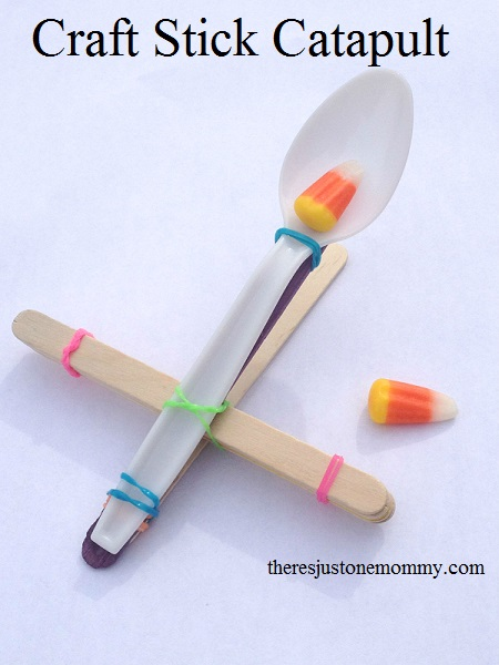 How to make a Popsicle stick and spoon catapult – Recycled ...  How To Build A Catapult With Popsicle Sticks