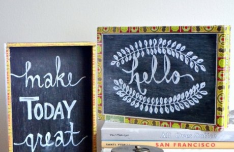 2 ways to make recycled cigar box chalkboards