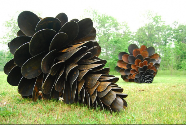 shovel pinecones