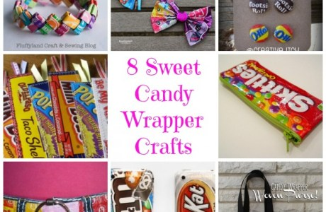 8 Sweet Candy Wrapper Crafts