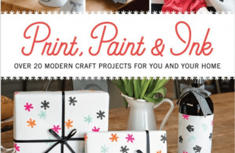 Giveaway- Print, Paint & Ink: Over 20 Modern Craft Projects for You and Your Home